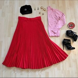 Dresses & Skirts - cherry red wool skirt